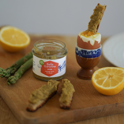 Spread, green asparagus & lemon - Organic & Vegan - 100g