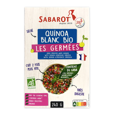 Sprouted Organic French White Quinoa 240gr