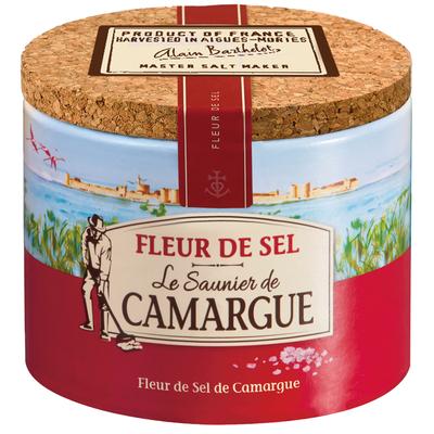 BOITE RONDE 125G FLEUR DE SEL LE SAUNIER DE CAMARGUE