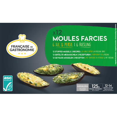 12 Moules farcies : 6 ail et persil / 6 Riesling ASC