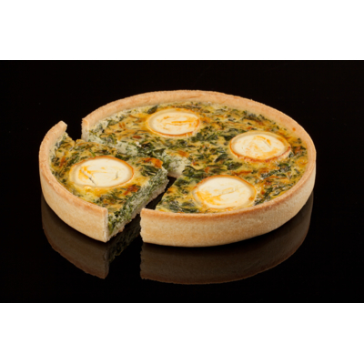 Organic spinach and goat's cheese quiche
