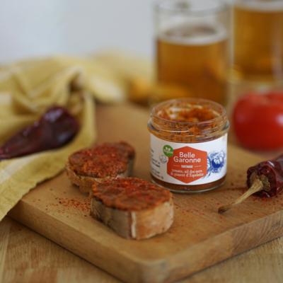 Spread, tomato, bear garlic & Espelette pepper - Organic & Vegan - 100g