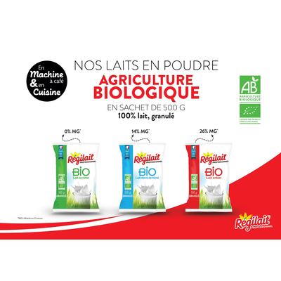 Organic granulated milk powder Régilait - 500 g pouch