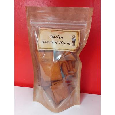 Biscuits salés Crackers Tomate Piment - sachet de 80g