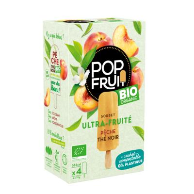 PopFruit Peach Black Tea frozen sorbet pops