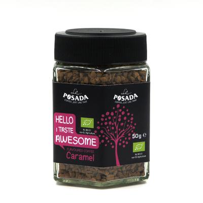 La Posada Organic Instant Coffee Caramel Flavour (50g)