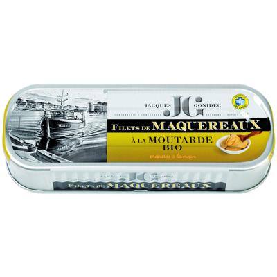 Mackerel fillets in organic mustard sauce