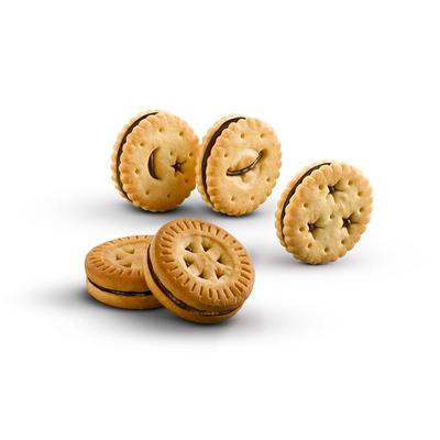 Mini round sandwich biscuit