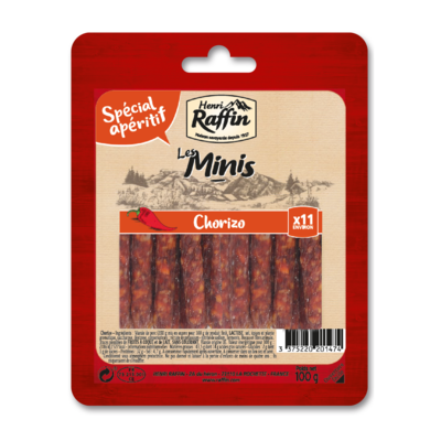 Minis chorizo Henri Raffin 100g