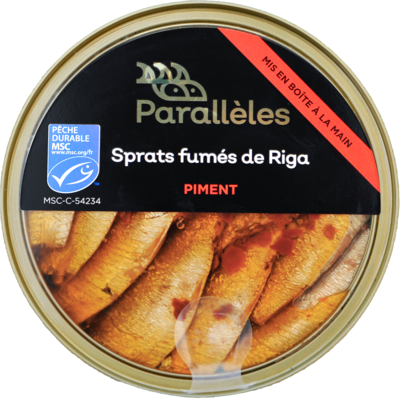 MSC Smoked Sprats from Riga, rapeseed oil and chilli flakes