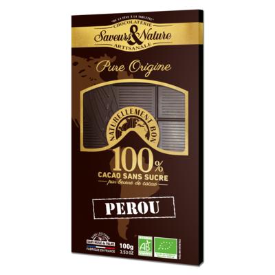 100% cocoa, sugar-free - Single Origin Peru