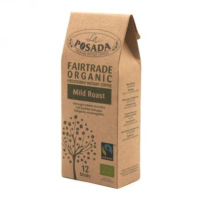 La Posada Mild Roast Organic Fairtrade Instant Coffee (12 sticks)