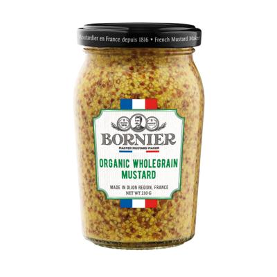 BORNIER French Organic Wholegrain mustard 210g / 440g