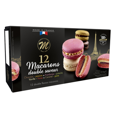 12 Double flavour Premium Macarons