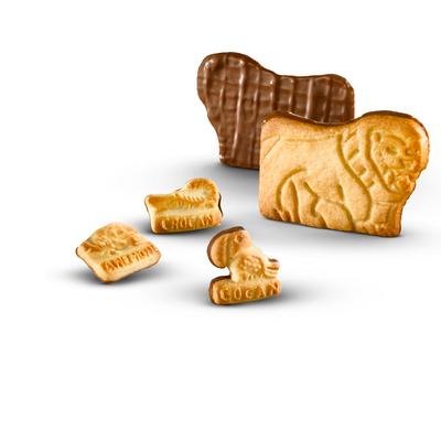 Mini and maxi fun shapes coated with chocolate