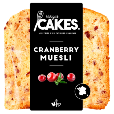 CRANBERRY MUESLI CAKE SLICE 30G