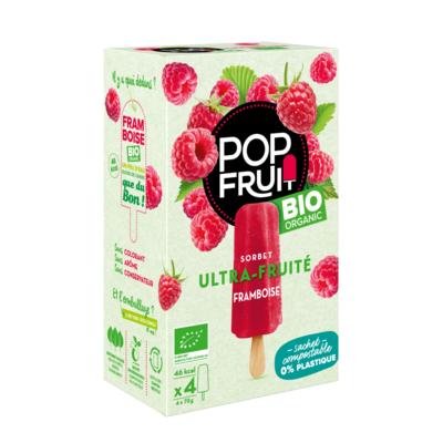 PopFruit Raspberry frozen sorbet pops