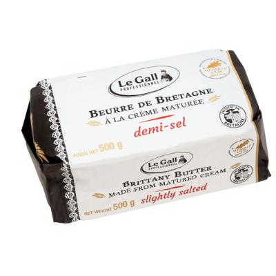 Beurre demi-sel à la crème maturée Le Gall Professionnel 500g