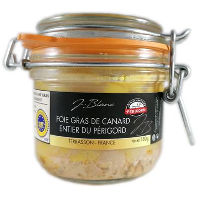 Whole duck foie gras, glass jar 180g