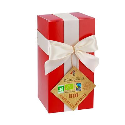 Gift Box - Assortment of 37% milk and 72% dark Chocolates 175g - Organic & Fairtrade
