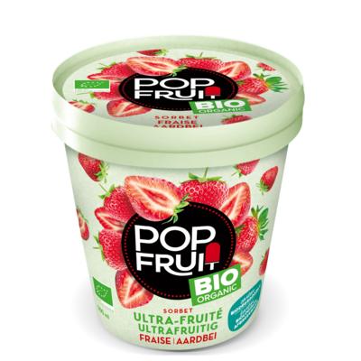 PopFruit  Organic Full Strawberry Sorbet in pint