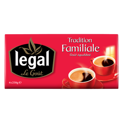 TRADITION FAMILIALE - 4 x 250g grounded coffee pack