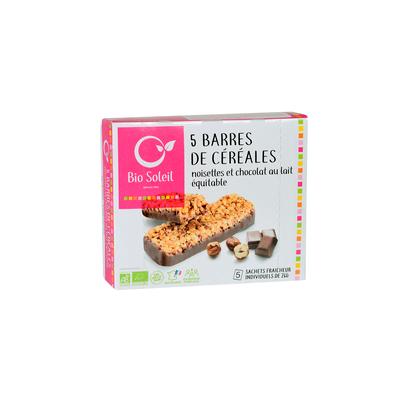 BARRES DE CEREALES NOISETTES ET SEMELLE CHOCOLAT AU LAIT 130G