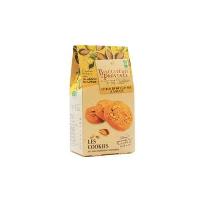 Lemon from Menton and almonds organic cookies