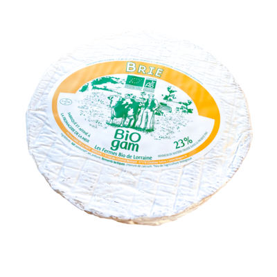Pasteurized Organic BRIE 1kg +-