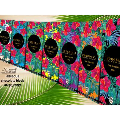 Chocolate block 100gr HIBISCUS