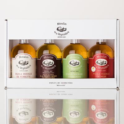 Box with Virgin Walnut, Hazelnut, Almond and Walnut with Black Truffle Oil - 10 cl