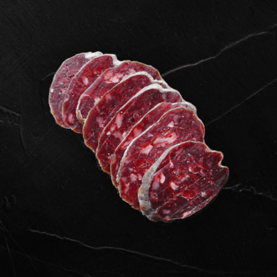 Dry Cured Beef Sausage With Roquefort Cheese