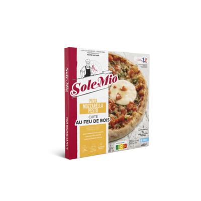 Mozzarella pesto pizza 430 G SOLE MIO wood-fired frozen