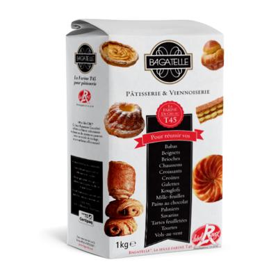 Farine Gruau Bagatelle Label Rouge T45 - 1kg Bag