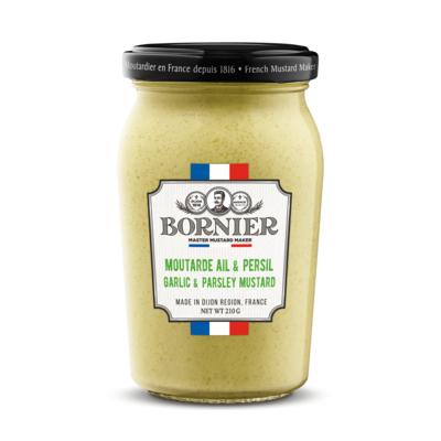 BORNIER French Garlic & Parsley mustard 210g