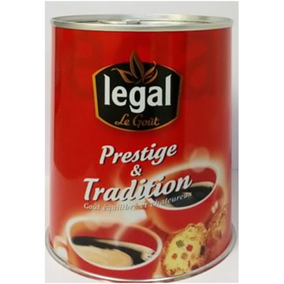 TRADITION FAMILIALE in iron box /boite fer - 250g grounded coffee box