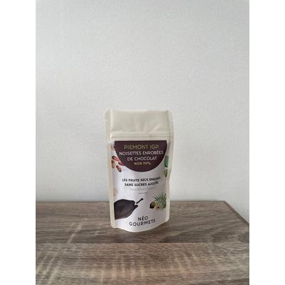 Chocolate coated Piemont Hazelnuts (PGI) - 40g