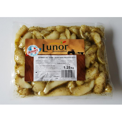LUNOR STEAMED POTATO QUARTERS W/ OLIVE OIL AND THYME 1.25 KG POUCH