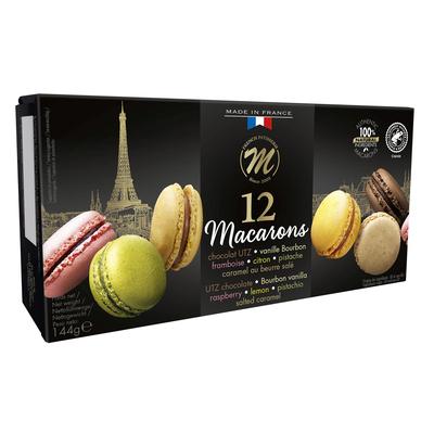 12 Classic macarons