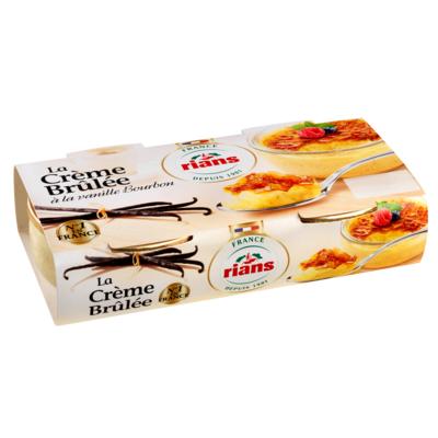 Crème Brûlée à la Vanille Bourbon Rians