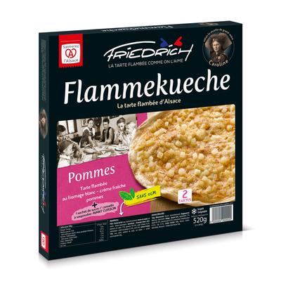 TARTE FLAMBEE POMMES 2x260gr (pommes + sucre/cannelle)