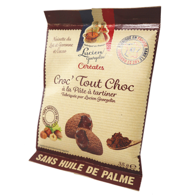 Chocolate pillows filled with hazelnut and chocolate spread - Croc'Tout Choc - 35g