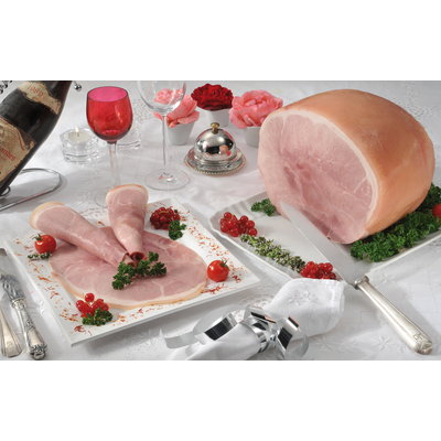 French cooked ham with rind