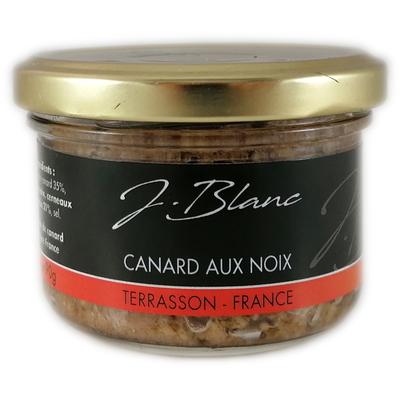 Duck meat with walnuts, glass jar 90gr