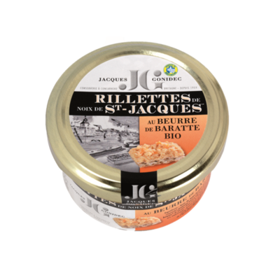 Scallop rillettes with organic churned butter
