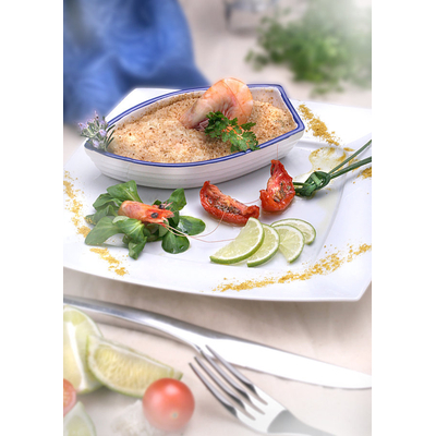 monkfish and scallops gratin