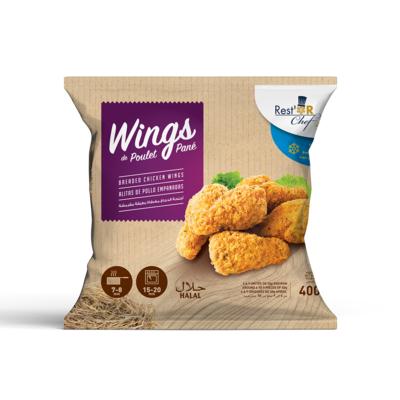 Breaded chicken wings 400g
