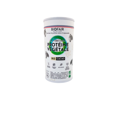 Organic rice cocoa protein