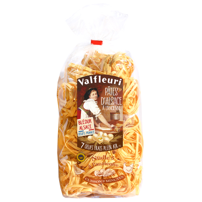 VALFLEURI Pâtes d'Alsace Tradition Nudle 500g Egg pasta made with 7 fresh free-range eggs