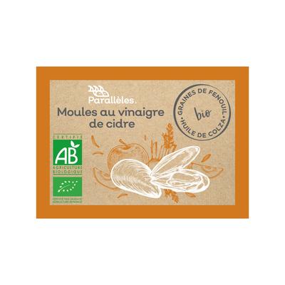 Organic Mussels in organic apple cider vinegar & organic fennel seeds